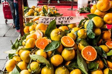 naranjas, color de Mercado. foto @anamariamarrero